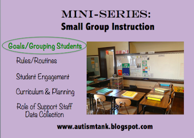 Mini Series: Small Group Instruction Big Picture Goals/Grouping Students