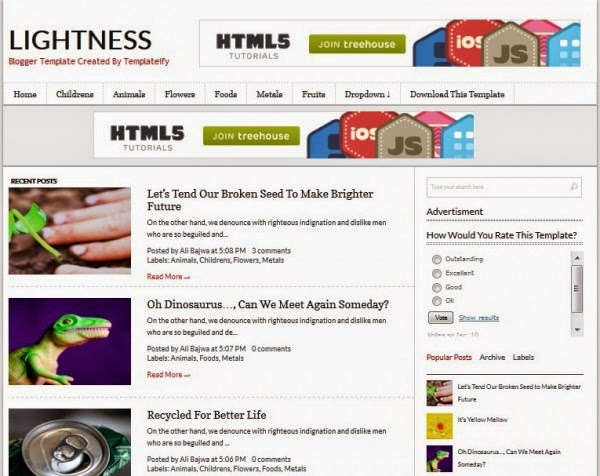 Lightness blogger template