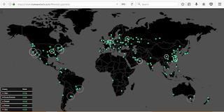 peta penyebaran virus Ransomware