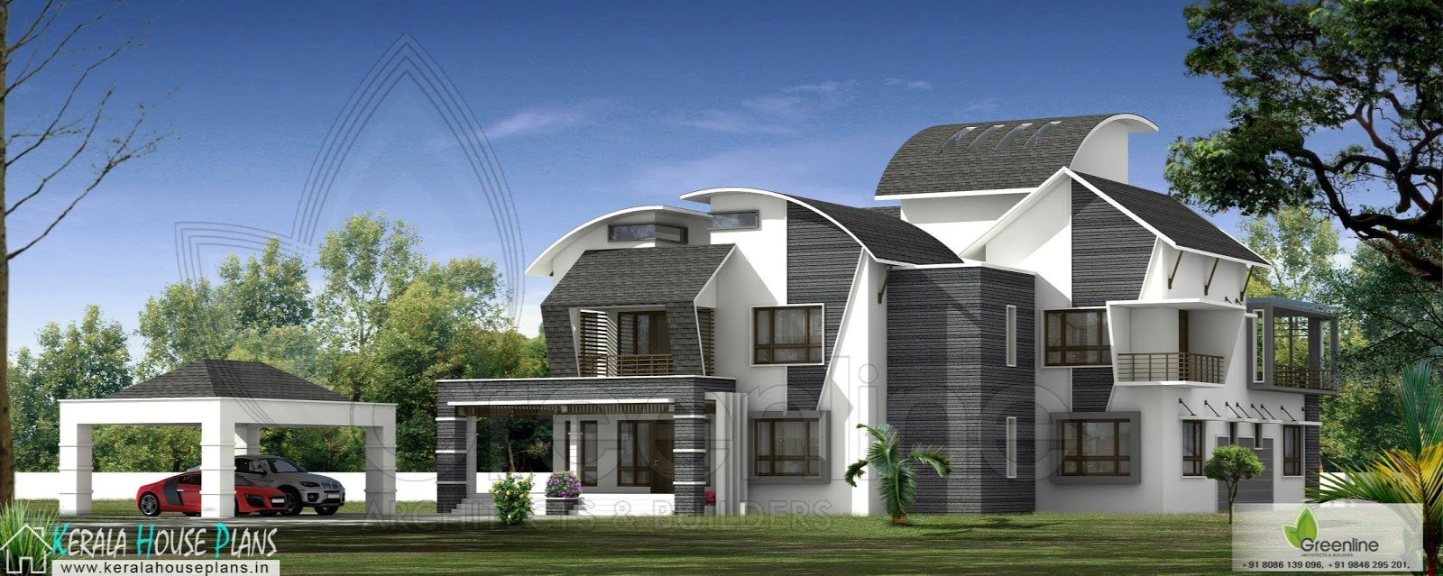 Kerala home Design with Home Theater