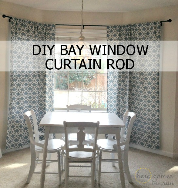 How To Decorate A Rental Bold Curtains And A Diy Bay