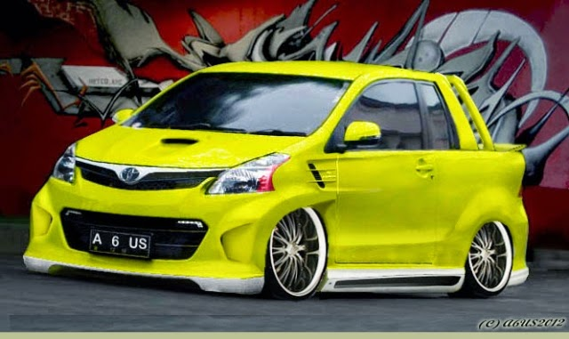 Modifikasi mobil Toyota Avanza Yellow Wide
