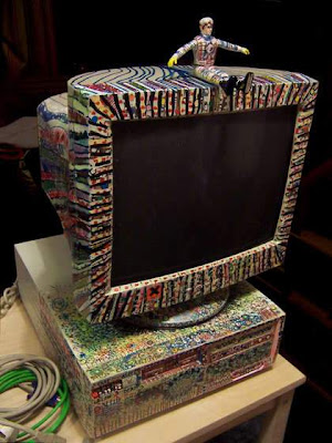 Arte con computadora vieja