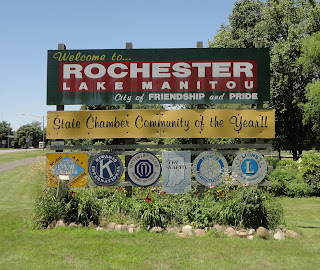 Rochester Indiana Town sign Furnace, AC, Electrician, Plumber