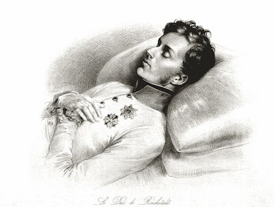 Deathbed portrait of Napoleon II by Johann Nepomuk Ender, 1832