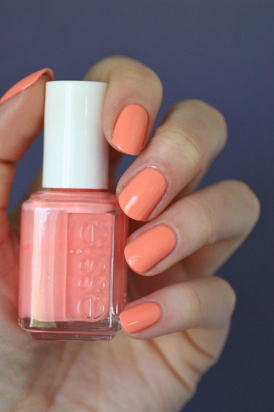 Essie Orange Coral Comparisons : Tart Deco, Peach Side Babe, Haute ...