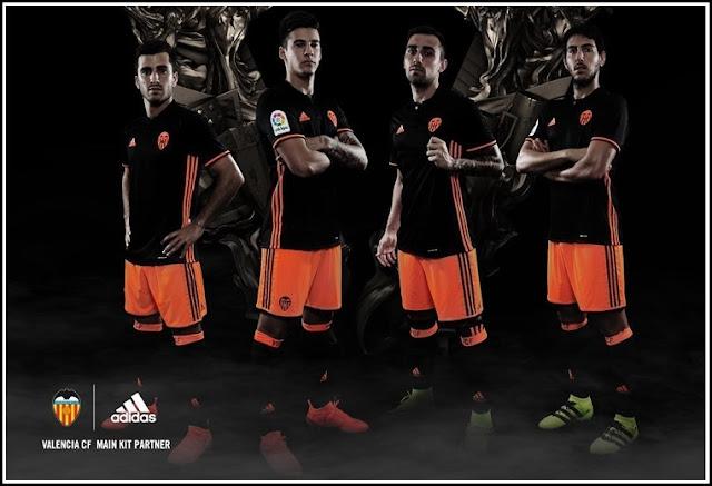 Camisas do Valencia CF Home 2016-2017 Adidas Reserva Kit
