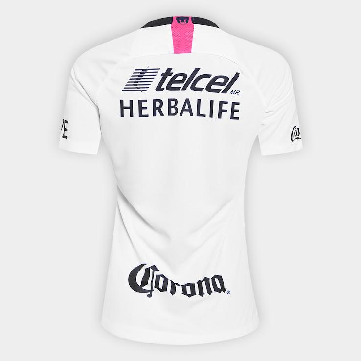 4266c73db88 White / Pink Nike Pumas UNAM 18-19 Women's Home Kit Revealed ...