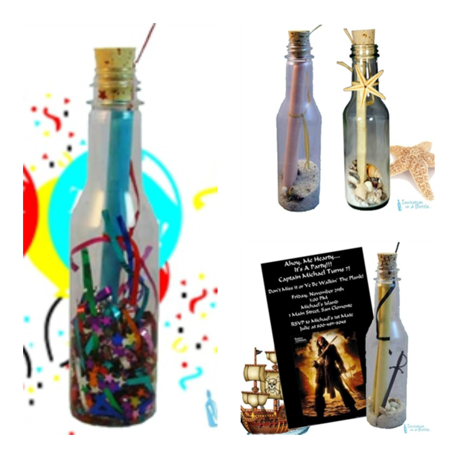 Message In A Bottle Invitations: Every Kid\'s Dream Come True With A ...