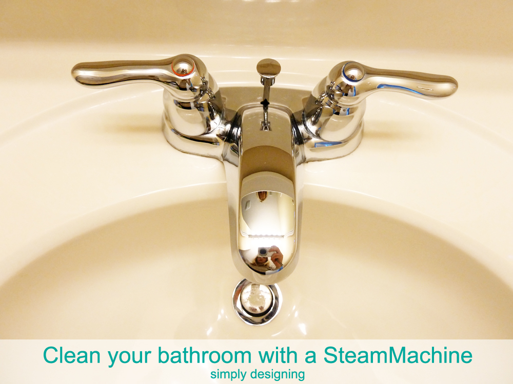How to clean your bathroom without harsh chemicals using a SteamMachine | #cleaning  #naturalcleaning