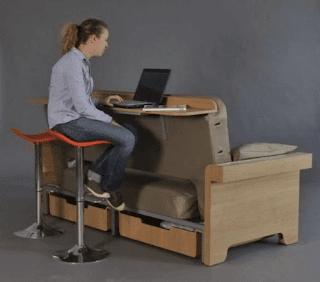 furniture untuk rumah kecil, meja kerja