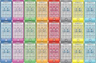 iphone llaveritos tablas multiplicar