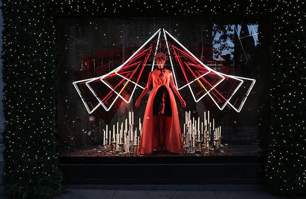 Green Pear Diaries, escaparates, visual merchandising, navidad, Selfridges, Journey to the stars