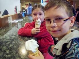 Enjoying icecream
