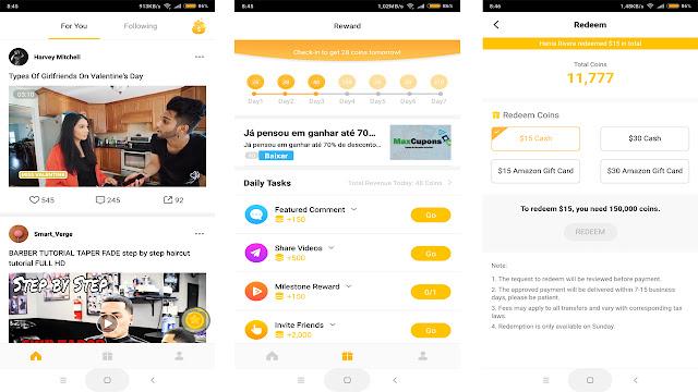 imagens do aplicativo veeu ganhar dinheiro