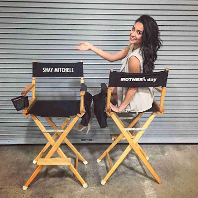 Shay Mitchell filming romantic comedy 'Mother's Day'