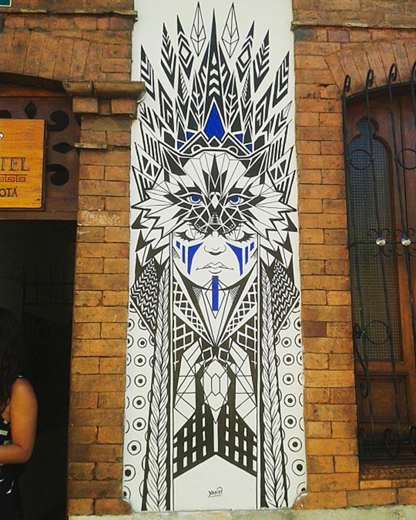 Arte urbano, Hostal Iku de Erly Rico Saucedo aka Yako