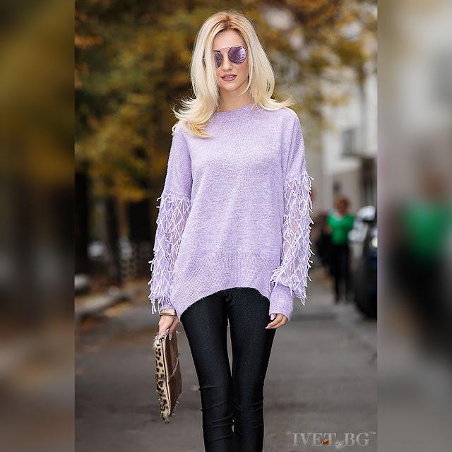Γυναικεία μωβ μπλούζα VESELA PURPLE