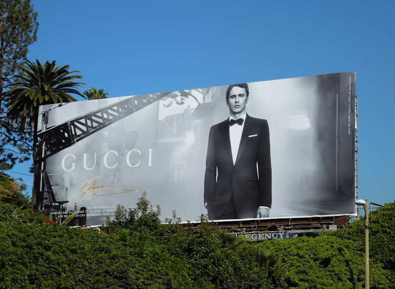 Gucci James Franco billboard