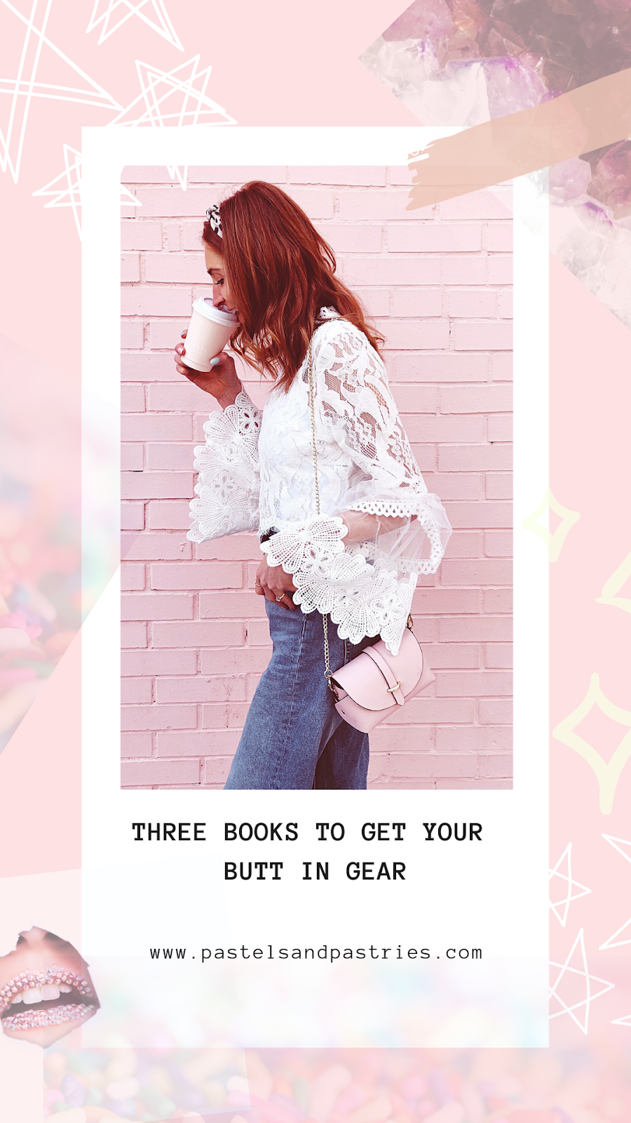 three books for the creative girlboss, white choies lace blouse