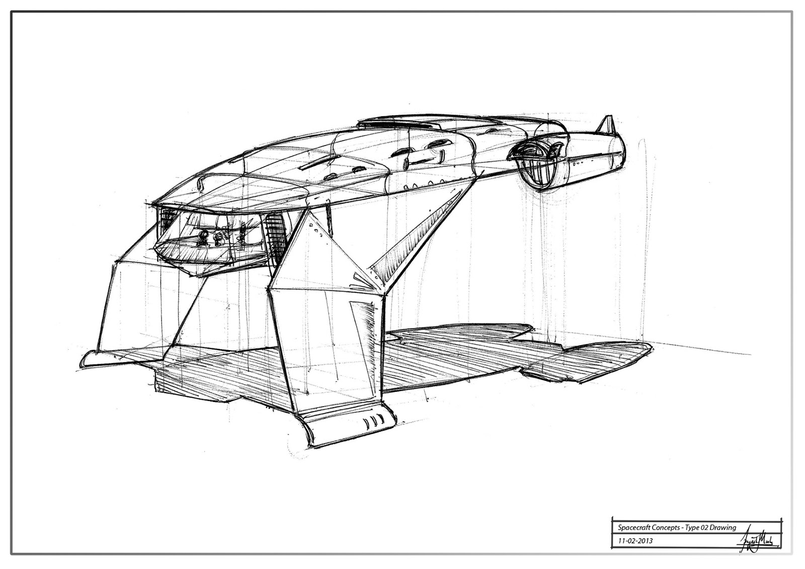 spacecraft drawing - photo #10