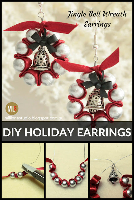 Jingle Bell Wreath Earrings Project Sheet