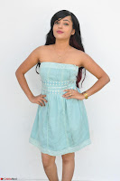 Sahana New cute Telugu Actress in Sky Blue Small Sleeveless Dress ~  Exclusive Galleries 016.jpg