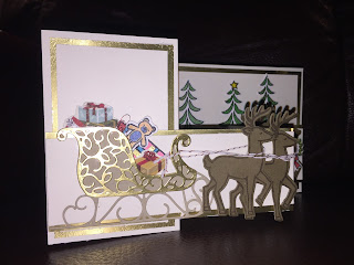 Paper crafts by elaine santa s sleigh card with stampin up
