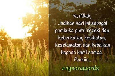 #Aynorawords 1 : Doa Seorang Hamba