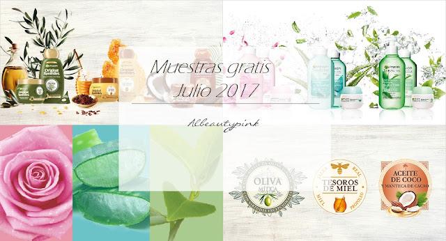 Muestras gratis Julio 2017
