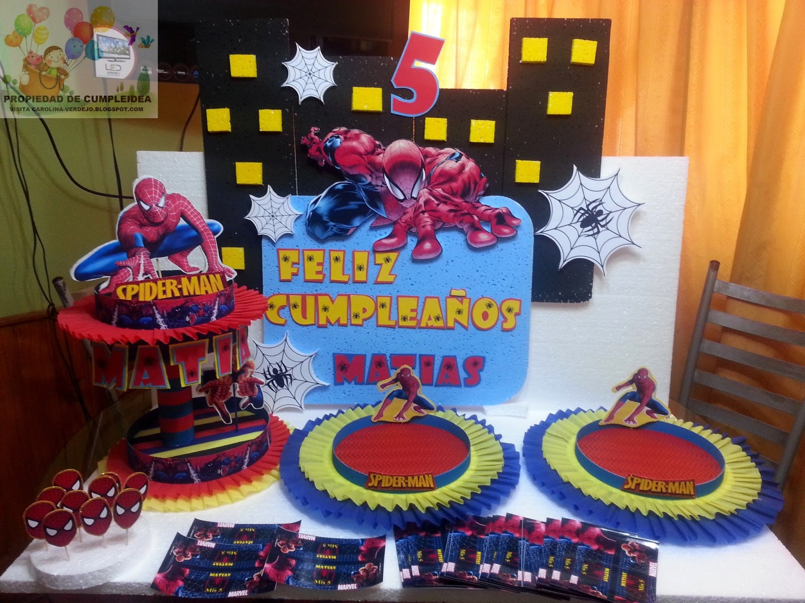 Decoraciones infantiles spiderman for Decoraciones infantiles