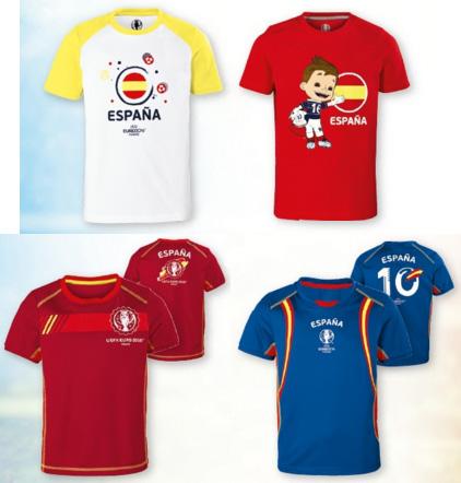 camisetas para niños de fútbol España Eurocopa Lidl