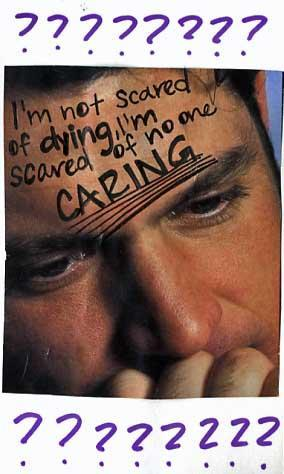 PostSecret: I'm not scared of dying, I'm scared of no one CARING