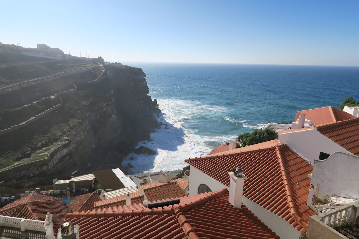 This is a beautiful shot of the houses in Azenhas do Mar.