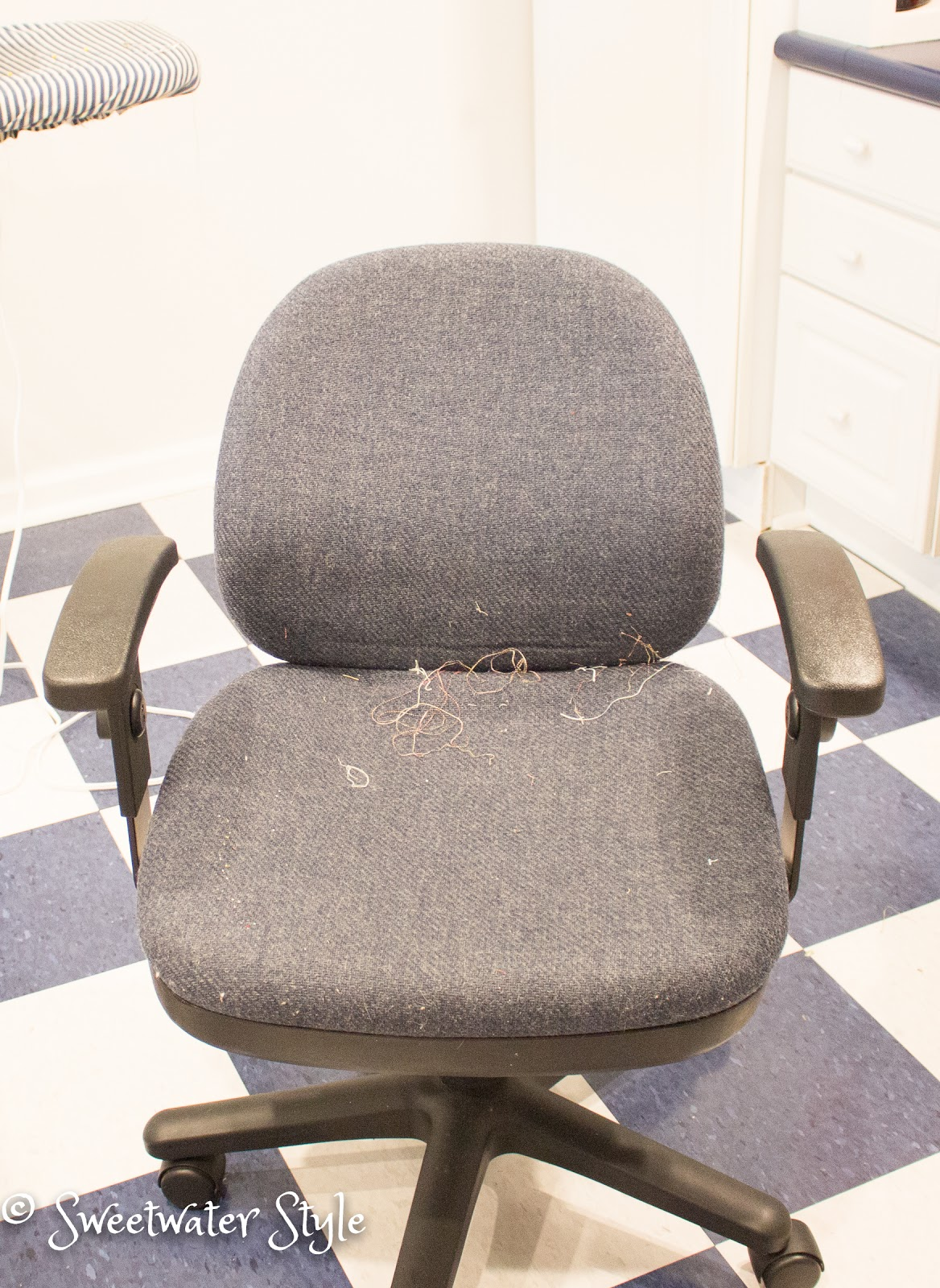 Old Office Chair how to upholster an old office chair | sweetwater style