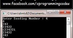C Programming | Computer | Ms-Excel: Number Pattern of Half Diamond