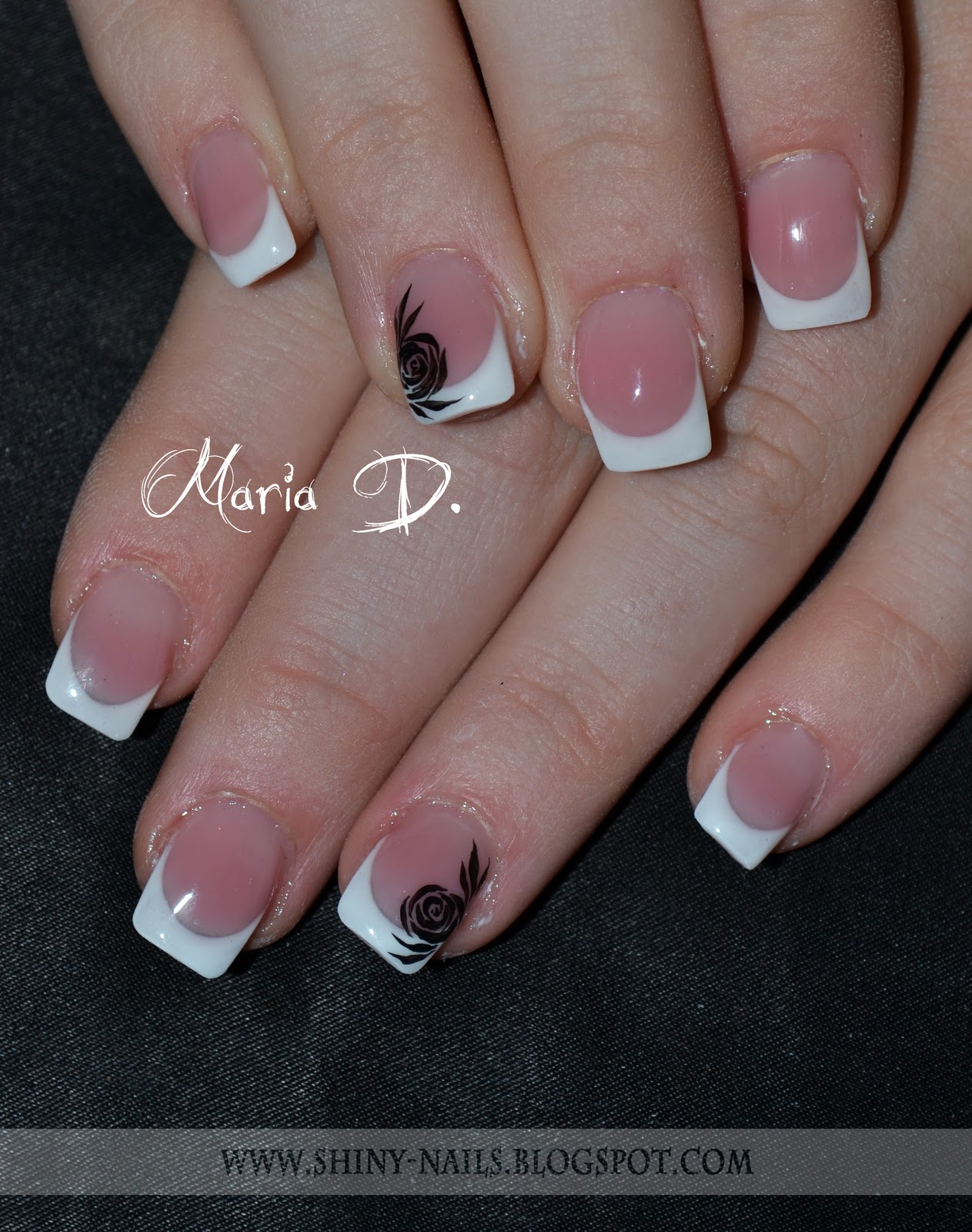 Shiny Nails By Maria D Transformation Square French Nails