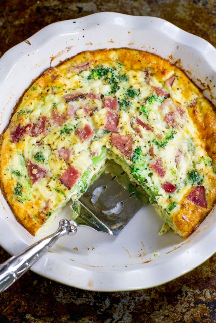 Ham & Broccoli Crustless Quiche