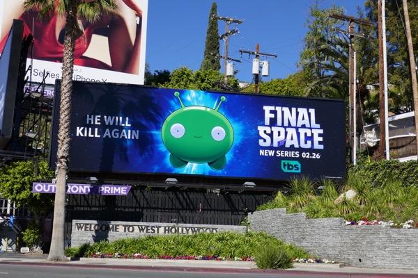 Final Space season 1 billboard