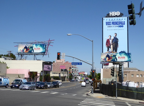 Kubo Two Strings movie billboards Sunset Strip
