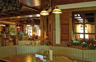 Зайфен (Seiffen) - гостиничный ресторан, интерьер
