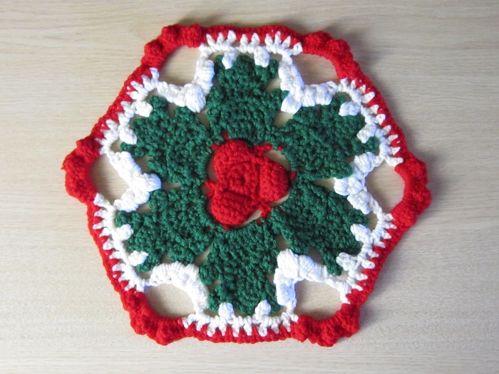 crochet pattern, hexagon motif