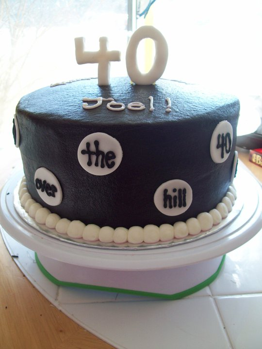 Husband 40th Birthday Cake