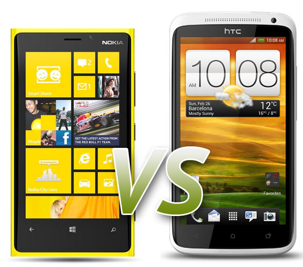 Nokia Lumia 920 vs. HTC One X