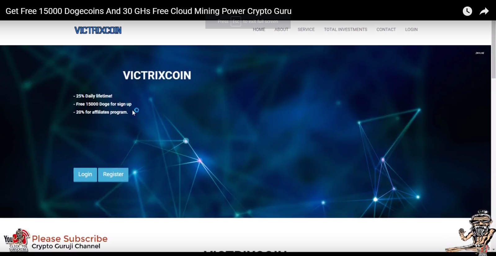 Get Free 15000 Dogecoins And 30 GHs Free Cloud Mining Power Crypto