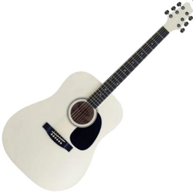 Đàn Guitar Acoustic Stagg SW203-WH (Dáng tròn)