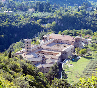The Abbey of Santa Scolastica at Subiaco, which saw Italy's first printing press set up by German monks in 1464