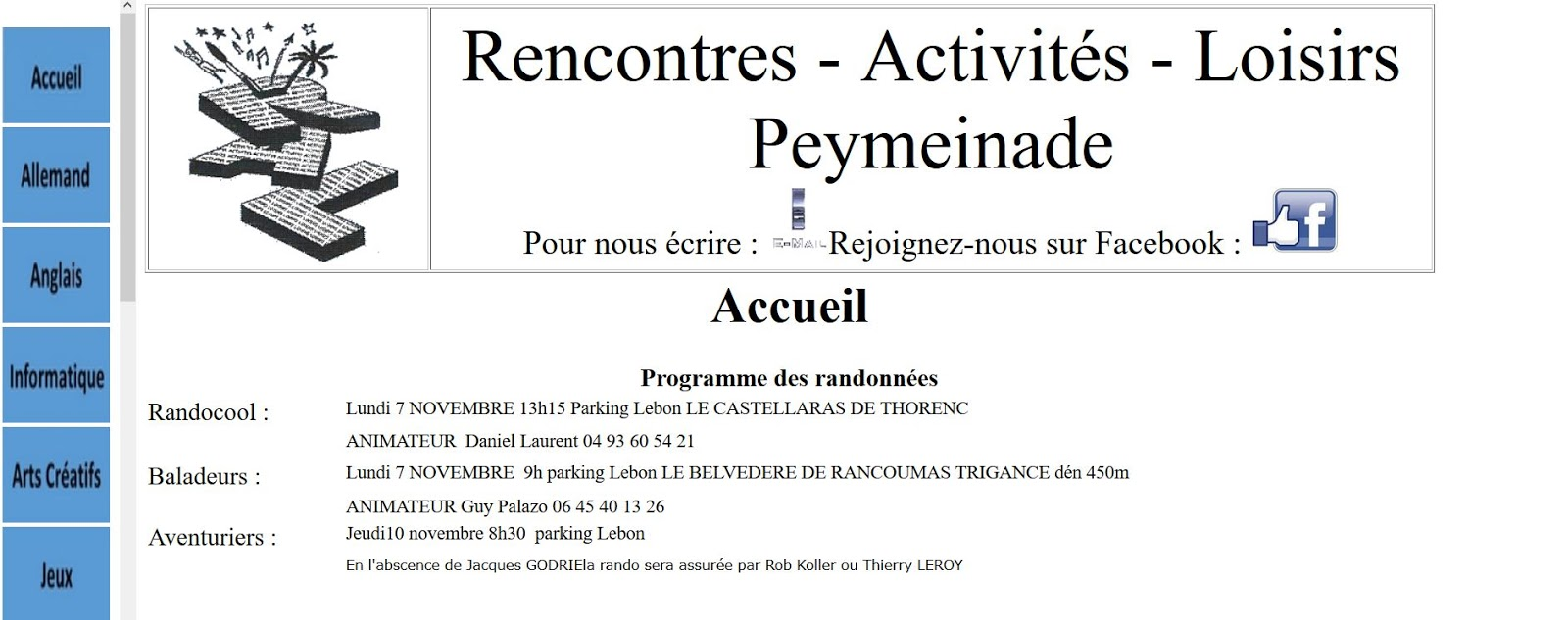 Rencontres activites loisirs peymeinade