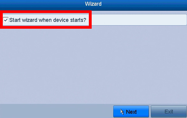 hikvision wizard disable