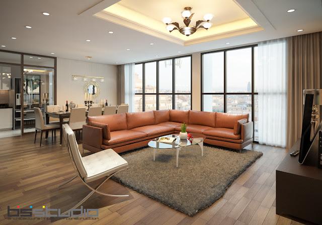 Không gian thiết kế phòng khách